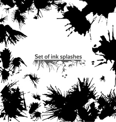 Set of ink splashes vector image vector image