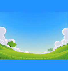 spring and summer landscape - wide angle vector image