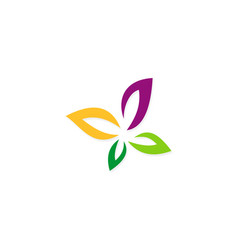 colored flower beauty logo vector image