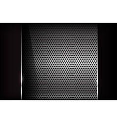 Dark chrome steel abstract background eps10 002 vector image vector image