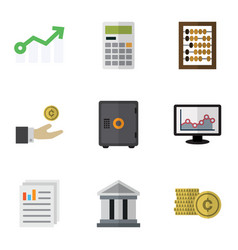 Flat icon incoming set of document strongbox vector