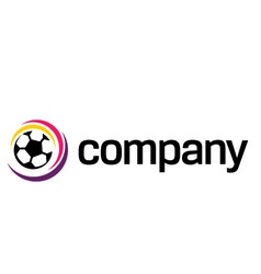 football soccer ball logo vector image