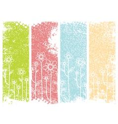 Grunge Flower Design vector image