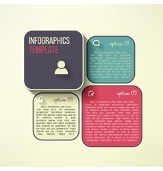 infographic boards in modern flat design vector image vector image