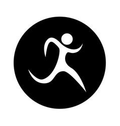 runner athlete silhouette icon vector image