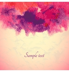 Abstract watercolor background Ink vector image