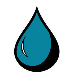 black drop icon icon cartoon vector image