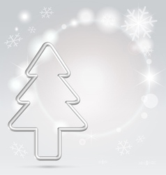 christmas silver background vector image vector image