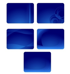 collection of blue business cards with waves vector image