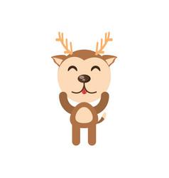 cute deer animal character funny vector image