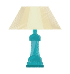 drawing table lamp house appliance decorative vector image vector image