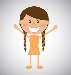 Happy girl vector image