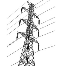 high voltage power pole vector image vector image