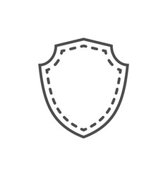 shield icon shape emblem vector image vector image
