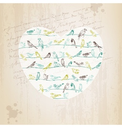Valentines Birds Card vector image vector image