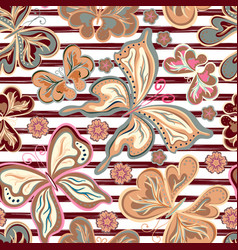Abstract hand drawn stripped pattern with vector