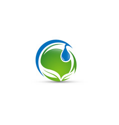 abstract water ecology logo vector image