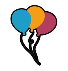 Air balloons decoration vector