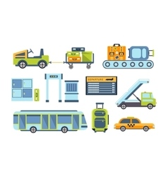 Airport Related Objects Collection vector
