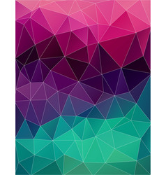 art color triangle background vector image