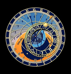 Astronomical clock vector image
