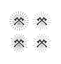 axes with sunburst vector image