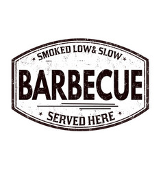 Barbecue grunge rubber stamp vector