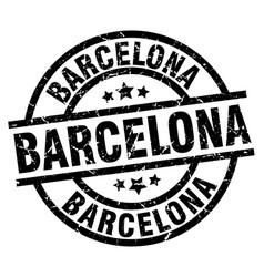 Barcelona black round grunge stamp vector