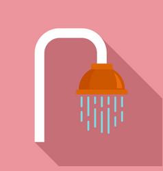 Bathroom shower icon flat style vector