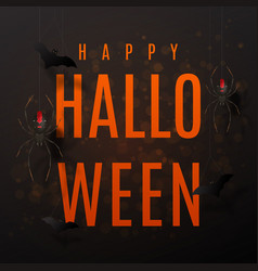 beautiful black greeting card for halloween vector image vector image