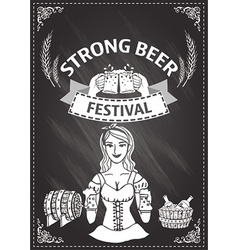 Beer festival document template vector