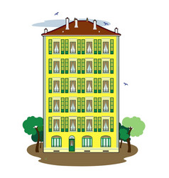 Building of 5 floors vector