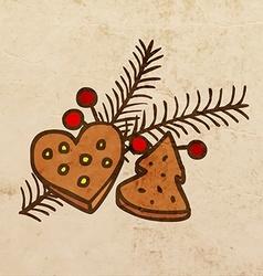 Christmas Decorations Cartoon vector image