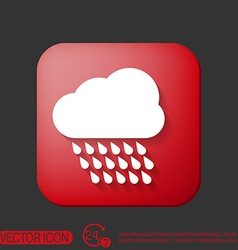 cloud rain the weather icon vector image