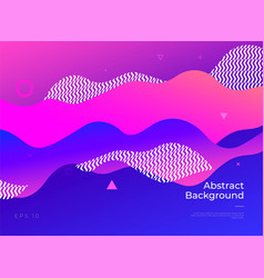 Colorful abstract geometric background gradient vector