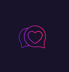 Dating logo for apps and web vector