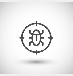 disinfestation line icon vector image
