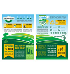 earth day information poster or infographic vector image