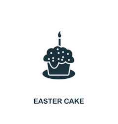 easter cake icon creative element design from vector image