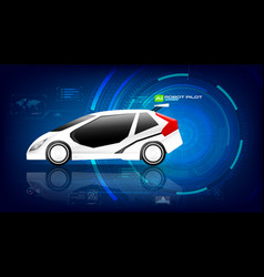 electronic ev car with ai interface 002 vector image