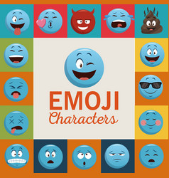 emoji chat characters vector image