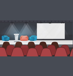 Empty nobody conference hall with furniture modern vector