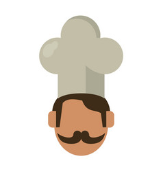 face chef restaurant symbol vector image