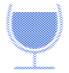 fish wine glass collage vector image