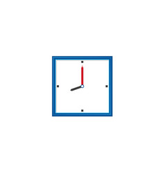 Flat analog wall clock icon vector