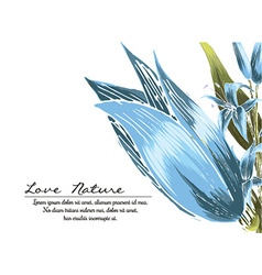 Floral with typography vector