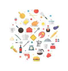 Food and kitchen items icons - collection vector