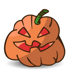 funny cartoon halloween pumpkin vector image