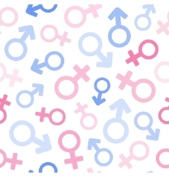 gender signs seamless pattern vector image