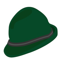 Green german hat vector image